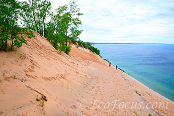 Visitors at Sleeping Bear Sand Dunes