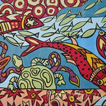 Fairhope fish wall